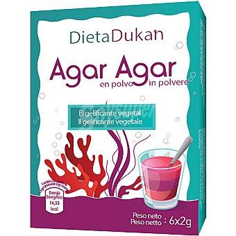 DIETA DUKAN Agar Agar en polvo envase 12 g 6 x 2 g