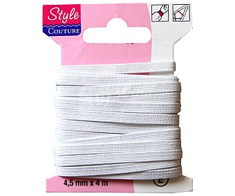 STYLE Cinta elástica flexible color blanco, 4,5 milímetros, 4 metros crea pecam 1 Unidad 1 Unidad