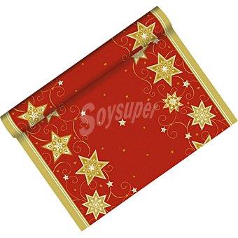 PAP STAR mantel Just Star Rojo camino de mesa 3 x 0,40 m  1 unidad