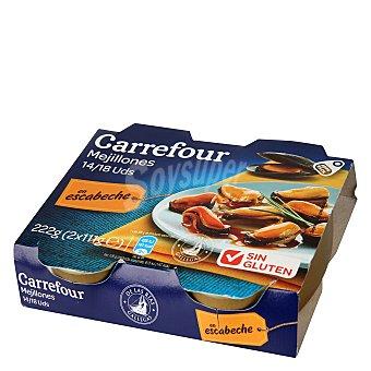 Carrefour Mejillón en escabeche 14/18 Pack de 2x69 g