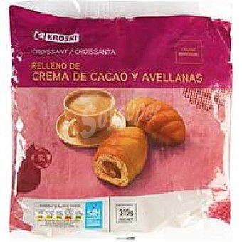 Eroski Croissant relleno de chocolate Paquete 315 g
