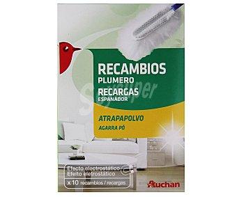 Auchan Recambio de plumero atrapapolvo (efecto electrostático) 10 unidades