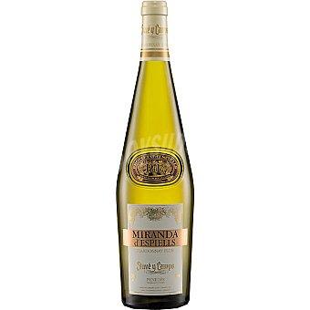 MIRANDA D'ESPIELLS Vino blanco chardonnay flor D.O. Penedés  Botella de 75 cl