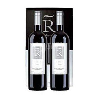 """Ribereño Estuche de vino D.O. """"Ribera del Duero"""" tinto roble pack 2x75 cl"""