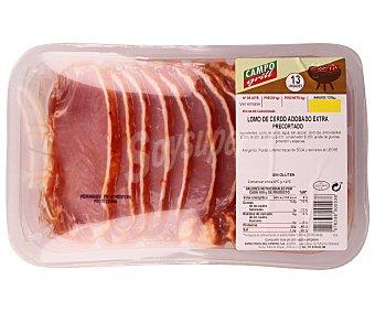 Campogrill Cinta de lomo adobada extra precortada de cerdo adobado sin gluten 750 Gramos