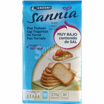 Eroski Sannia Pan tostado bajo en sal Paquete 270 g