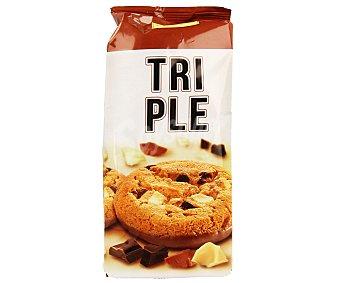 Reglero Cookies de tres chocolates 200 gramos