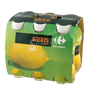 Carrefour Sanus sabor limón + vitamina C Pack de 6x100 g