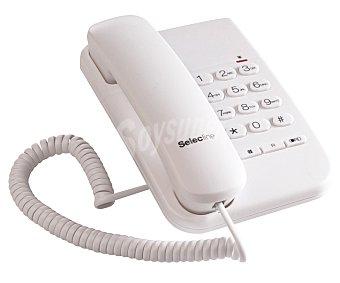 Selecline Teléfono fijo bipieza (producto económico alcampo) Blanco, tecla R, permite montaje en la pared garage