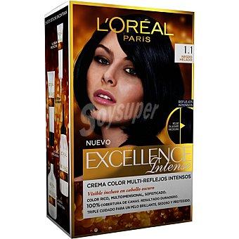 Excellence L'Oréal Paris Intense tinte Negro Helado Puro nº 1.1 caja 1 unidad crema color multi-reflejos intensos 1 unidad