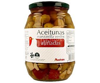 Auchan Aceitunas verdes manzanilla aliñadas Bote de 550 grs