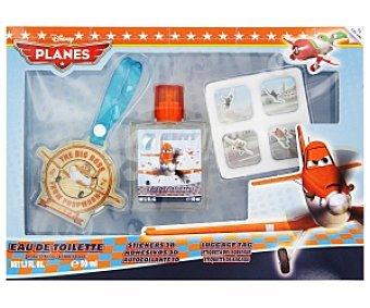 PLANES Estuche: Colonia 50ml + Pegatinas 3D + Identificador maletas 1 Unidad
