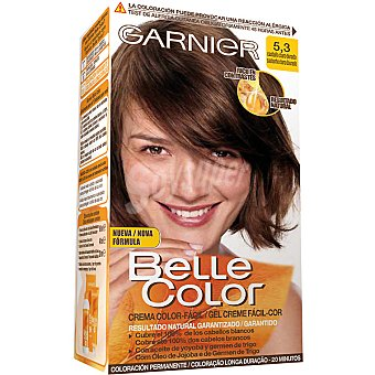 Belle Color Garnier Tinte castaño claro dorado nº 5.3 con aceite de jojoba y germen de trigo caja 1 unidad coloración permanente Caja 1 unidad
