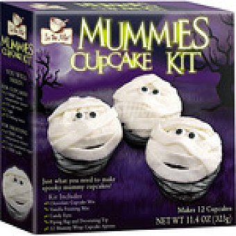 Varma Mummies Kit para preparar cupcakes especial Halloween  caja 326 g