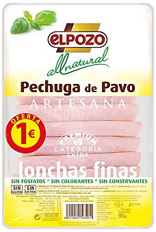 ElPozo Pechuga de Pavo All Natural El Pozo 90 g