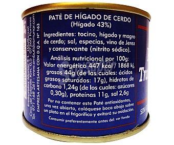 Munar Paté de hígado de cerdo casero 200 gramos