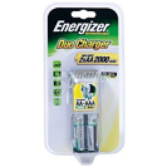 Energizer Cargador pilas + 2 pilas alcalinas recargables AA (HR6)