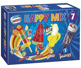 Helados Nestlé Happy Mix surtido de polos infantiles  Caja 461 ml (7 uds)