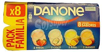 Danone Yogur sabores (fresa,coco,piña, mango) Pack 8 x 120 g - 960 g