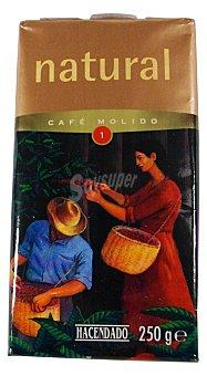 Hacendado Cafe molido natural Nº 1 Paquete 250 g