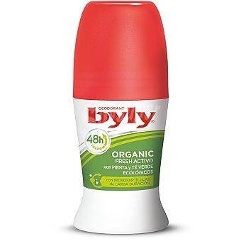 Byly Desodorante roll on organic extra fresh con menta y té verde ecológicos Envase 50 ml