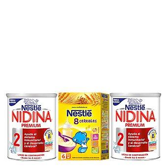 Nidina Nestlé Leche 2 continuación Premium en polvo Nestlé pack de 2x800 g