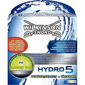 Wilkinson Recambio maquinilla de afeitar Hydro 5 Groomer Estuche 4 unidades