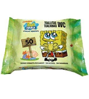 Bob Esponja Toallitas wc Paquete de 50 unidades