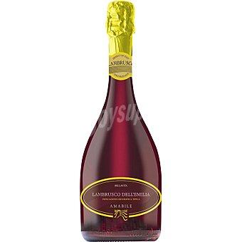 BELLAVITA Vino rosado amabile Lambrusco dell'emilia de Italia botella 75 cl 75 cl