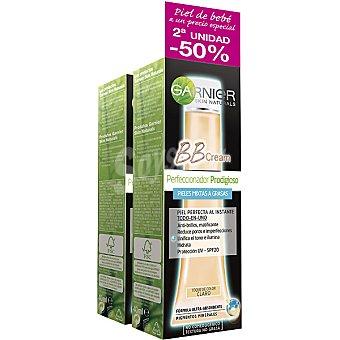 Skin Naturals Garnier Cream Perfeccionador Prodigioso todo en uno con un toque de color claro pack 2 tubo 40 ml (pack precio especial 2ª unidad al 50%) Pack 2 tubo 40 ml