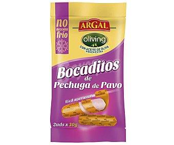 Argal Bocaditos de pechuga de pavo Pack de 2 x 30 g