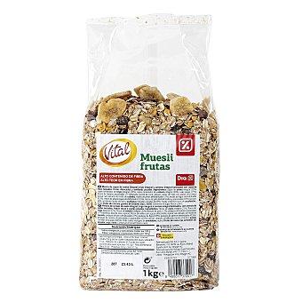 DIA VITAL Cereales muesli con frutas bolsa 1 Kg Bolsa 1 Kg
