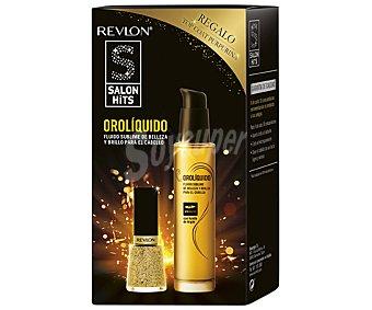 Salon hits Fluido de oro líquido de belleza y brillo para el cabello 50 mililitros