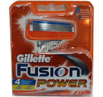 Gillette Cargador Cuchillas fusion power 4u