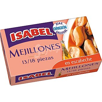 Isabel Mejillón escabeche 13/18 piezas Lata de 69 g