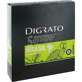 Digrato Café Molido de Brasil de Tueste Natural Cápsulas - Intensidad 7 15 c - Estuche 90 g
