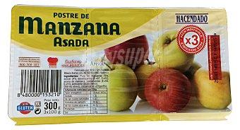 Hacendado Postre manzana asada Pack 2 x 150 g - 300 g
