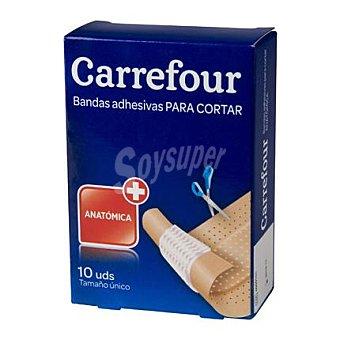 Carrefour Bandas adhesivas color piel tamaño único 1x6 cm. 10 ud