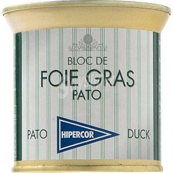 Hipercor Bloc foie gras de pato lata 200 g Lata 200 g