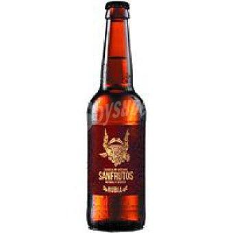 SANFRUTOS Cerveza rubia Botellín de 33 cl