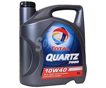 TOTAL Aceite sintético para vehículos diésel 5 Litros