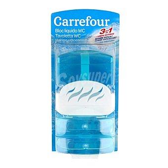 Carrefour Bloc Wc liquido azul baño Pack 3x55 ml