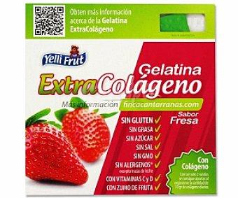 YELLIFRUT Gelatina sabor fruta, Extra colágeno, sin azúcar Pack 4 Unidades de 100 Gramos