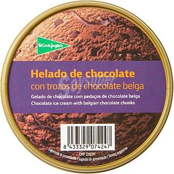 El Corte Inglés helado de chocolate con trozos de chocolate belga tarrina 500 ml
