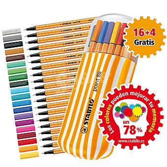 STABILO 8820-021 Estuche con 16 rotuladores + 4 gratis