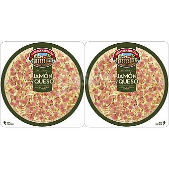 Casa Tarradellas Pizza de jamón-queso Pack 2x220 g