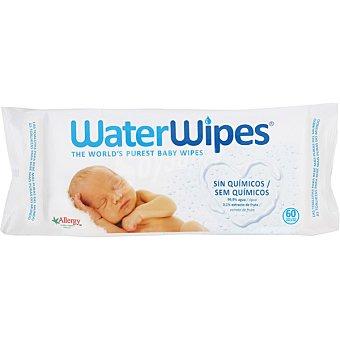 WaterWipes Toallitas para bebés sin químicos y sin perfume contienen agua y extracto vegetal de semilla de pomelo paquete 60 unidades