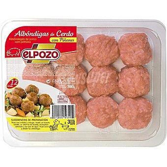 ElPozo Albóndigas de cerdo con piñones sin gluten Bandeja 325 g