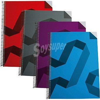 Hipercor Cuaderno con espiral de tapa dura A4 en colores surtidos 74031 1 unidad