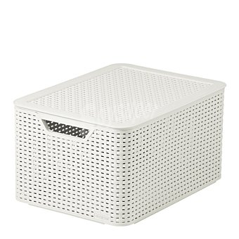 Caja blanca con tapa relieve efecto Rattan Mod. STYLE 1 ud